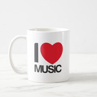 I love music Taza Classic White Coffee Mug