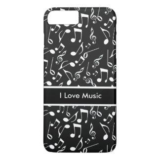 I Love Music Theme iPhone 7 Plus Case