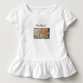 I love music! toddler t-shirt