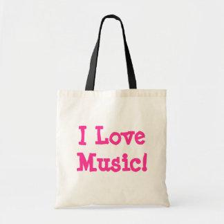 I Love Music! Tote Bag