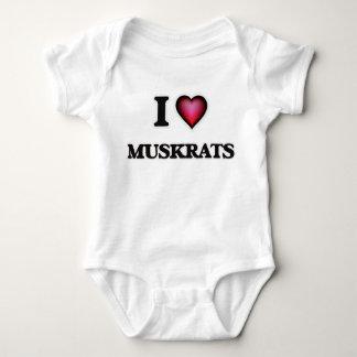 I Love Muskrats Baby Bodysuit