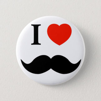 i love mustache 2 inch round button