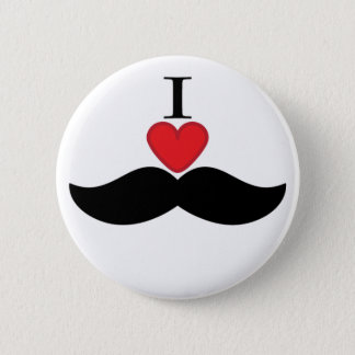 I love mustaches! 2 inch round button
