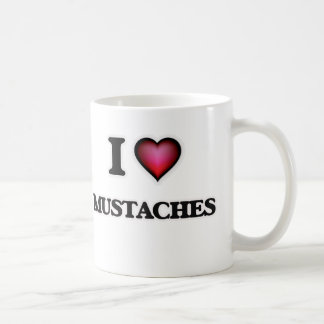 I Love Mustaches Coffee Mug