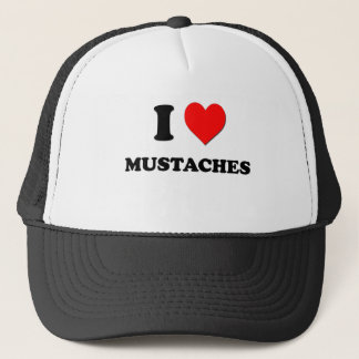 I Love Mustaches Trucker Hat