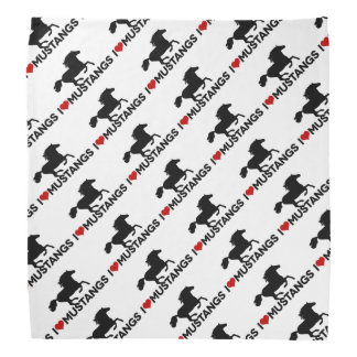 I Love Mustangs - Bandana