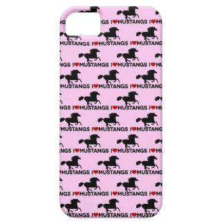 I Love Mustangs - iPhone Case - Pink