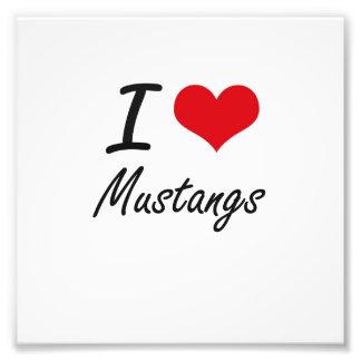 I Love Mustangs Photo Print
