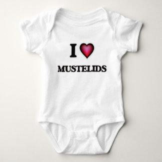 I Love Mustelids Baby Bodysuit