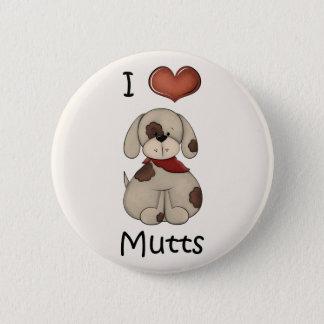 I Love Mutts Boy Dog Button