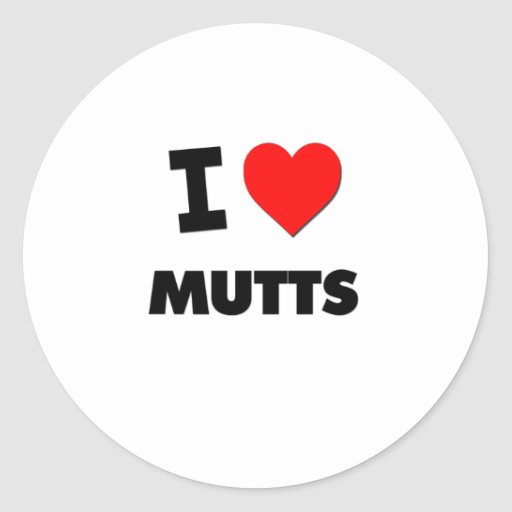 I Love Mutts Stickers