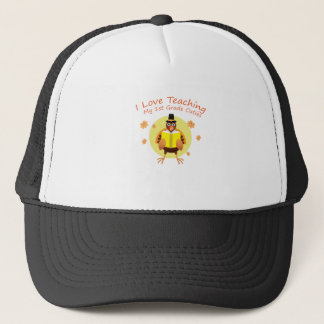 I Love My 1st Grade Cuties Teacher First Grade Trucker Hat