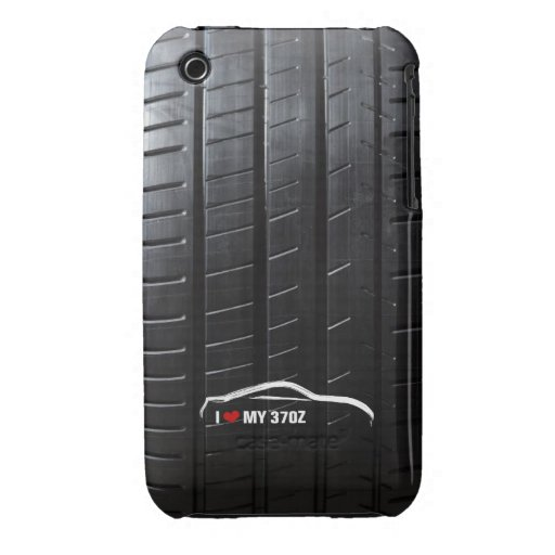 I Love My 370Z with Tire Tread Case-Mate iPhone 3 Case