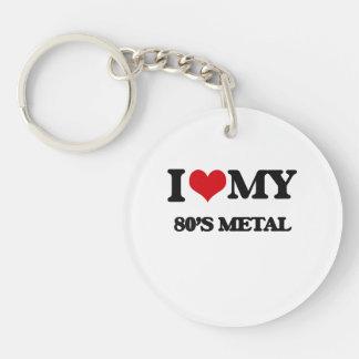 I Love My 80'S METAL Single-Sided Round Acrylic Keychain