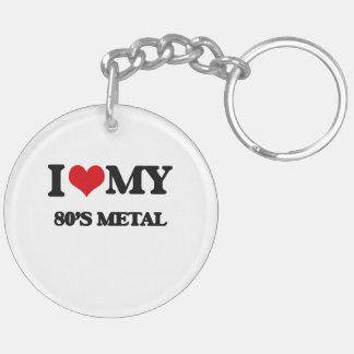 I Love My 80'S METAL Acrylic Keychains