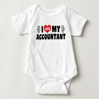 I Love My Accountant Baby Bodysuit