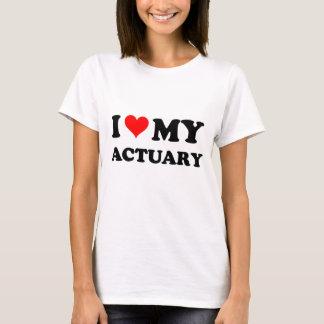 I Love My Actuary T-Shirt