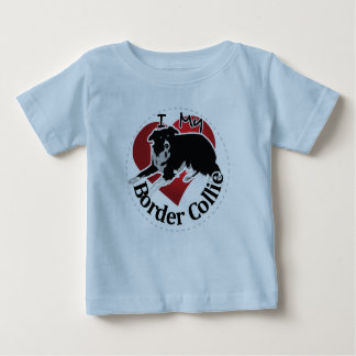 I Love My Adorable Funny & Cute Border Collie Dog Baby T-Shirt