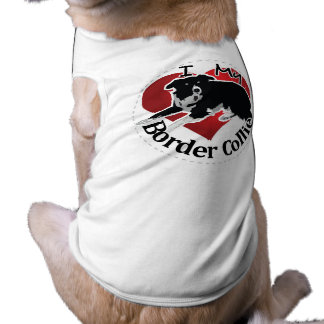 I Love My Adorable Funny & Cute Border Collie Dog Dog T-shirt