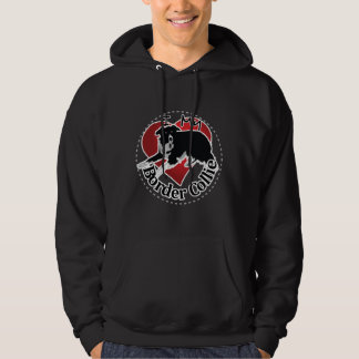 I Love My Adorable Funny & Cute Border Collie Dog Hoodie