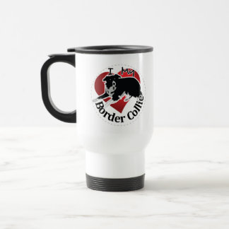 I Love My Adorable Funny & Cute Border Collie Dog Travel Mug