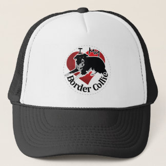 I Love My Adorable Funny & Cute Border Collie Dog Trucker Hat