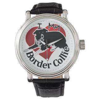 I Love My Adorable Funny & Cute Border Collie Dog Watch
