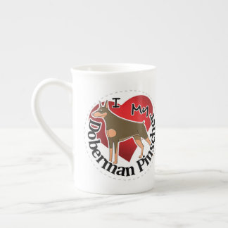 I Love My Adorable Funny & Cute Doberman Pinscher Tea Cup