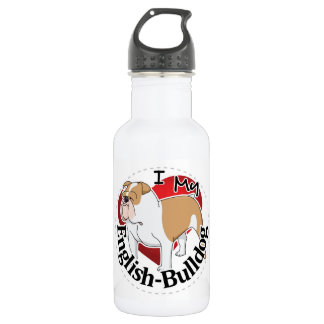 I Love My Adorable Funny & Cute English Bulldog 532 Ml Water Bottle