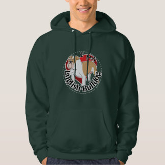 I Love My Adorable Funny & Cute English Bulldog Hoodie