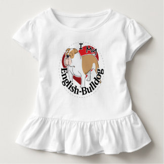 I Love My Adorable Funny & Cute English Bulldog Toddler T-shirt