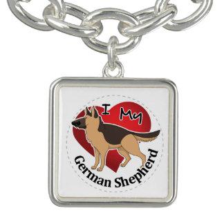 I Love My Adorable Funny & Cute German Shepherd Bracelets