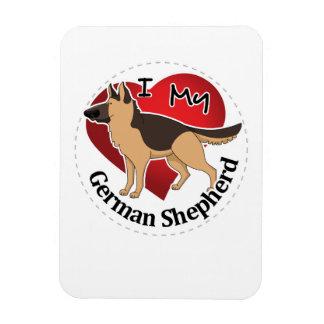 I Love My Adorable Funny & Cute German Shepherd Magnet
