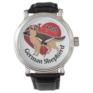 I Love My Adorable Funny & Cute German Shepherd Watch