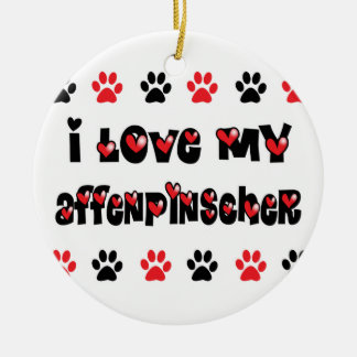 I Love My Affenpinscher Ceramic Ornament