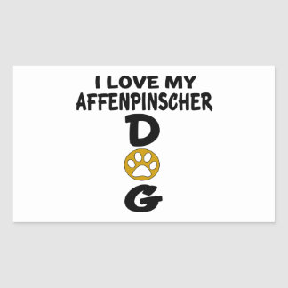 I Love My Affenpinscher Dog Designs