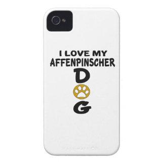 I Love My Affenpinscher Dog Designs Case-Mate iPhone 4 Cases