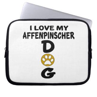 I Love My Affenpinscher Dog Designs Computer Sleeve