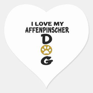 I Love My Affenpinscher Dog Designs Heart Sticker