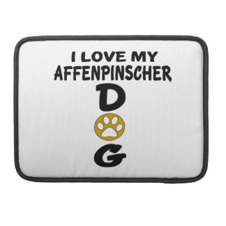 I Love My Affenpinscher Dog Designs MacBook Pro Sleeves