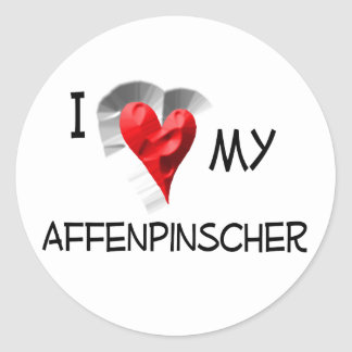 I Love My Affenpinscher Round Sticker