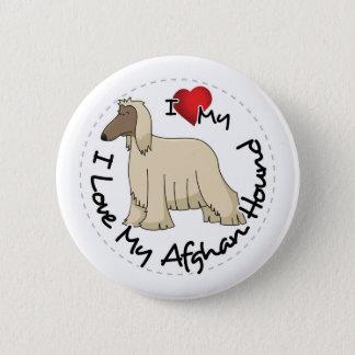 I Love My Afghan Hound Dog 2 Inch Round Button