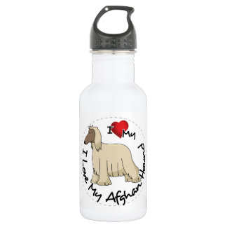 I Love My Afghan Hound Dog 532 Ml Water Bottle