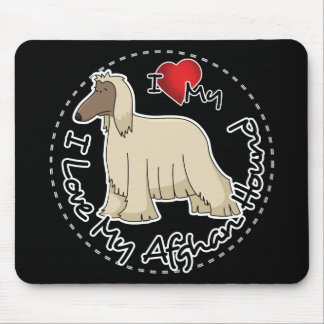 I Love My Afghan Hound Dog Mouse Pad