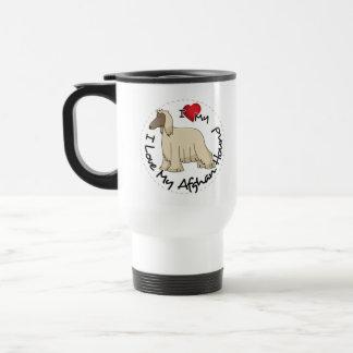 I Love My Afghan Hound Dog Travel Mug