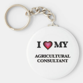 I love my Agricultural Consultant Basic Round Button Keychain
