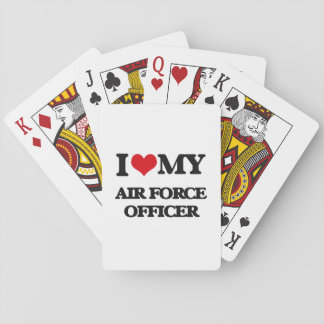 I love my Air Force Officer Playing Cards