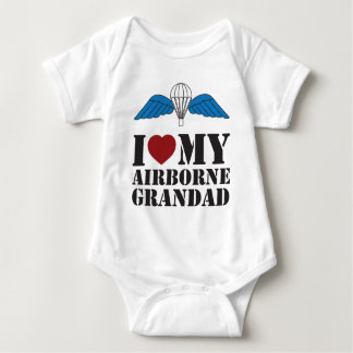 I LOVE MY AIRBORNE GRANDAD BABY BODYSUIT