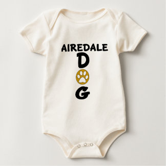 I Love My Airedale Dog Designs Baby Bodysuit