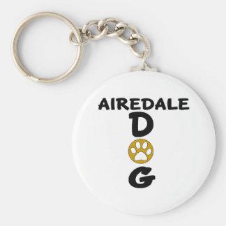 I Love My Airedale Dog Designs Basic Round Button Keychain